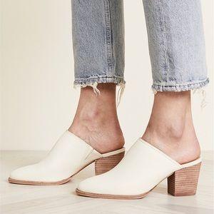 Madewell Harper Mule Vintage Canvas Heel White